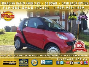 2013 Smart fortwo Pure-$30/Wk-CLEAN CARPROOF-AUX-PwrDrs/Wdws-Key