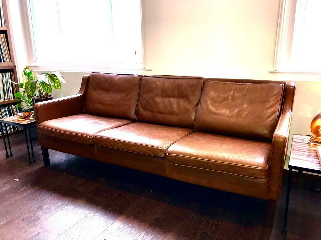 Stouby Danish Leather Mogensen Sofa Midcentury Modern Vintage Top Quality In Lewes East Sussex Gumtree