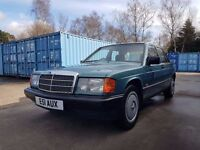 1988 MERCEDES-BENZ 190 2.0E AUTO W201 FULL MOT JUST 3 OWNERS BEAUTIFUL CONDITION