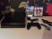 PS4 500GB with 1 Pad and 2 games