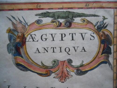 Map, Alexandrian Egypt, Pierre Duval c.1670, Aegyptus Antiqua Antique Original ^
