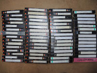 APPROX 60 USED BLANK VHS TAPES