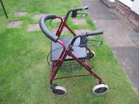 Rollator 4 Wheel walking aid
