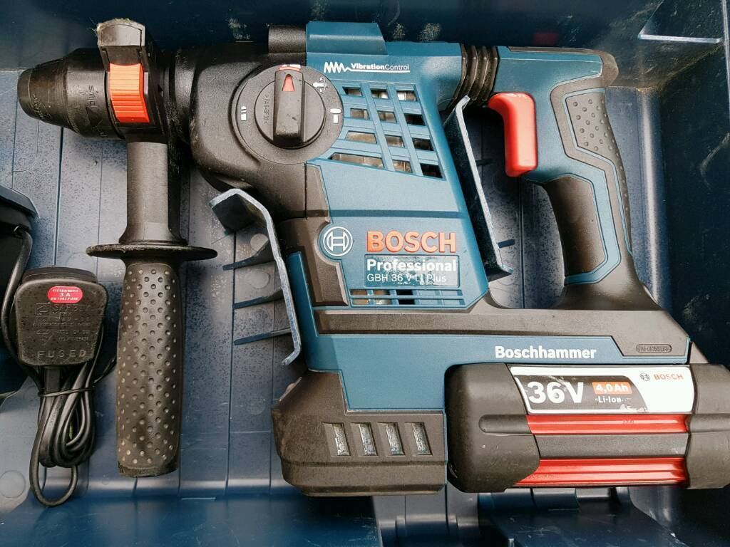 Bosch GBH 36 VF LI Plus SDS Plus Hammer Drill Inc 2x 4.0Ah Batteries and Charger in Carry Casein Turnpike Lane, LondonGumtree - Bosch GBH 36 VF LI Plus SDS Plus Hammer Drill Inc 2x 4.0Ah Batteries and Charger in Carry CaseCheck out our Bosch GBH36VFLIP Review by Peter Brett The Bosch GBH36VFLIP features endless power and absolute control and up to 50% faster work rate due to...