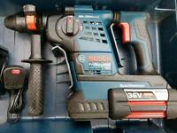 Bosch GBH 36 VF-LI Plus SDS Plus Hammer Drill Inc 2x 4.0Ah Batteries and Charger in Carry Case