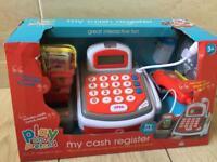 Brand new toy cash register