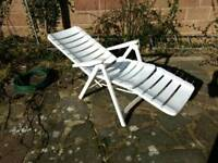 Reclining patio lounge chair and table. FREE DELIVERY.