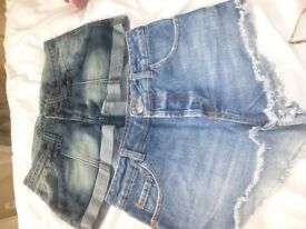 Tom Wolfe and MOTO (Topshop) Denim shorts size 8