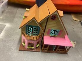 Small plastic dolls house