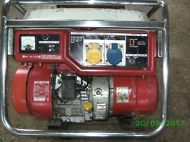 HONDA EM1900 GENERATOR, RECENTLY SERVICED AND TESTED, STARTS AND RUNS SUPERBLY.