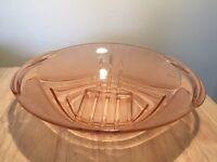 Very pretty pink Art Deco glass bowl