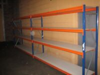 20 bays Rapid industrial longspan shelving ( pallet racking , storage )
