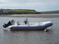 Zodiac Medline 1 Rigid Inflatable Boat - with 60HP outboard - takes 5 people