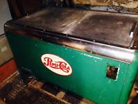 Rare 1950s Green Pepsi Chest Cooler...Commercial