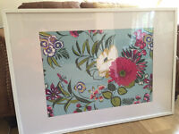 Large white IKEA Ribba picture frame