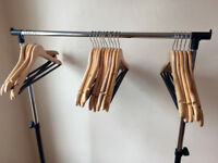 20 Wooden Hangers - Includes Delivery