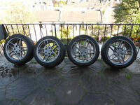 """AC SCHITZNER 17"""" ALLOYS WITH TYRES WITH VERY GOOD LEGAL TREAD"""