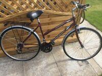 Ladies 27spd medium bike