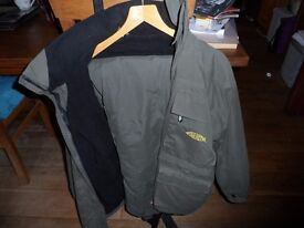 Xtreme Waterproof/weatherproof fishing Jacket and bib & braces -Worn twice. Medium - £100 o.n.o