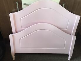 Girls Pink Wooden Single Bed