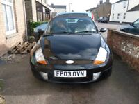 03 Street Ka 1.6i looking for good home. Black, Luxury, Currently SORN. Cream Interior.