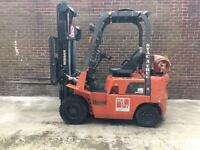 Nissan 15 Forklift truck LOW HOURS! From only 900 hours! Gas operated