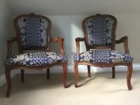 Pair of Louis style armchairs bought in Brittany 20 years ago
