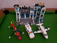 Lego city police station with vehicles