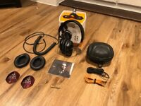 V-Moda Crossfade M-100 headphones - BLACK - in box with extra coiled DJ cable, XL cushions & more