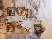 Xbox one s 1tb with games and extra controller