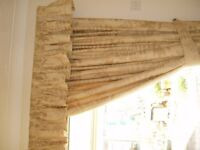 Curtains & Valance- HEAVY WEIGHT FULLY LINED