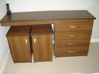 BEDSIDE CABINETS AND DRESSING TABLE