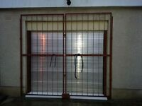 Pair of Large Steel Security gates
