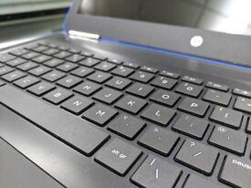 HP Blue Laptop 6th Gen 8GB HDMI USB3 Graphics 520 I3-6100