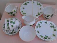 Vintage 21 piece Colclough ivy leaf bone china tea set