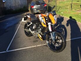 Ktm Duke 125 abs 2016 *still in warranty only 2800 miles*