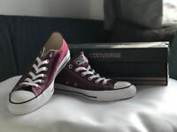 New size 7 Converse All Star in Maroon