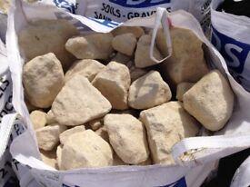 Quality Yellow Rockery Stones **Bulk Bags**