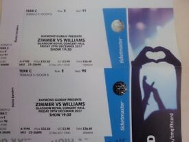 Zimmer vs Williams concert tickets