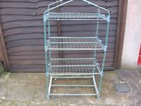 Wire stand for storage in garden or car port