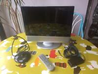"15"" LCD TV, built-in DVD"