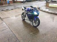 Yamaha R125 blue