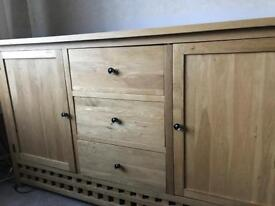 Oak furniture land side cupboards x 2