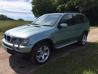 BMW X5 SUV (2002) E53 2.9 d automatic Sport 5dr green 120000 miles