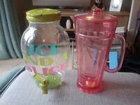 Plastic cocktail jugs