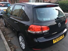 VW Golf 2009 Black 1.4 Petrol 62600 Mileage £2995