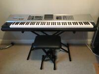 Roland Fantom X8 Workstation Keyboard, Stand & Case