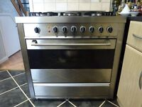 Stainless Steel Nardi Range electric and gas 5 burner Range Cooker