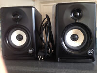 "RCF Ayra 5 Active 5"" Professional Studio Monitor Speaker PAIR + FREE XLR Leads"