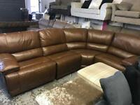Leather corner group left or right reclining ends